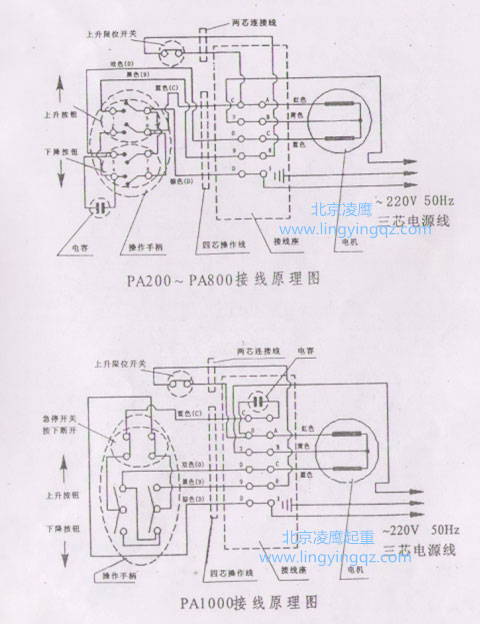 专业版微型电动葫芦接线图